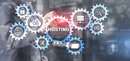 Hosting Business, Technology, Internet and network IT concept
