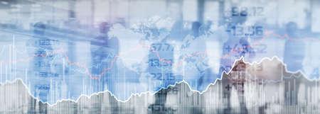 Stock online trading data market financial. Mixed Media concept 版權商用圖片