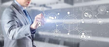 Credibility improvement. Modern business solution concept 版權商用圖片
