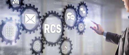 Rich Communication Services. Communication Protocol. RCS. Technology concept