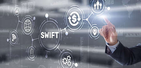 SWIFT. Society for Worldwide Interbank Financial Telecommunications. Financial Banking regulation concept
