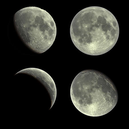 phases: Moon Stock Photo