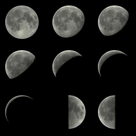 lunar phases: Moon Stock Photo
