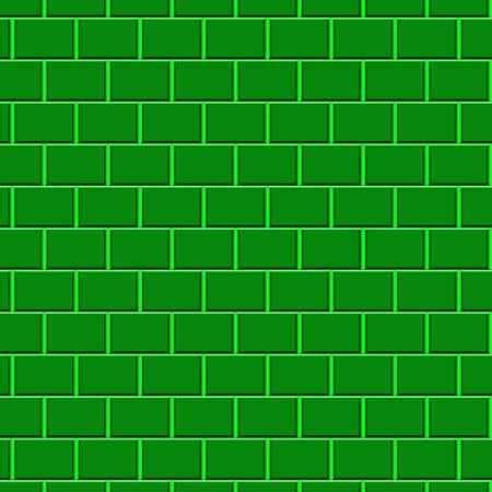 Green brick wall Stock Photo - 5836334