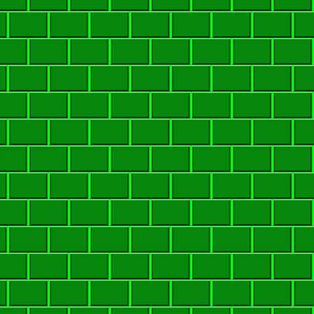 Green brick wall Stock Photo - 5836334
