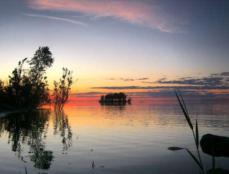 Island at the lake Stock Photo