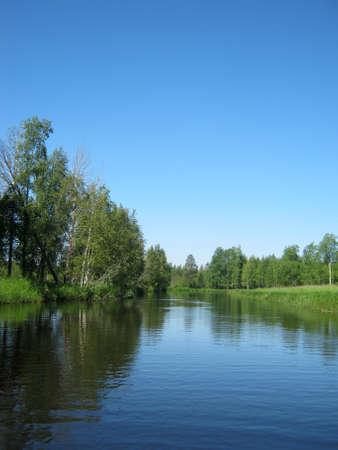 The taiga river Stock Photo