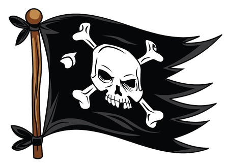 ship sign: pirate flag