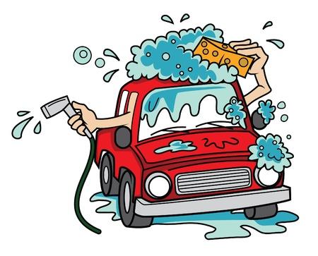 white wash: car wash