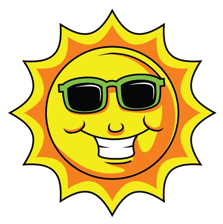 sun smile  Illustration
