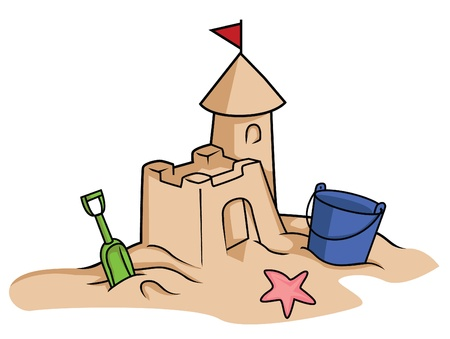 sand drawing: sand castle