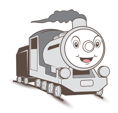 Train cartoon Illustration