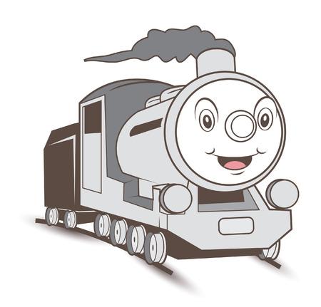 Cartoon trein Stock Illustratie