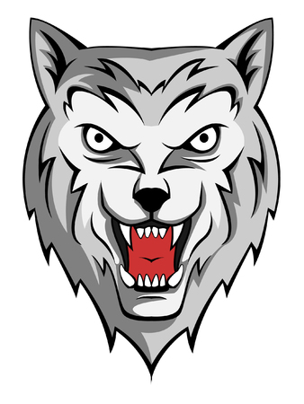 wolf howling Vector