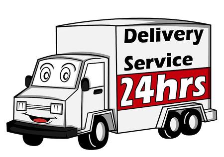 delivery car Illustration