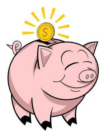piggy bank: Happy piggy bank