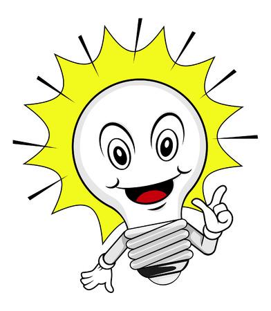 Lamp idea cartoon Vector