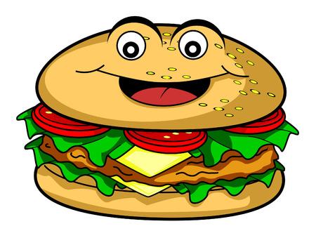 burger cartoon: Burger cartoon