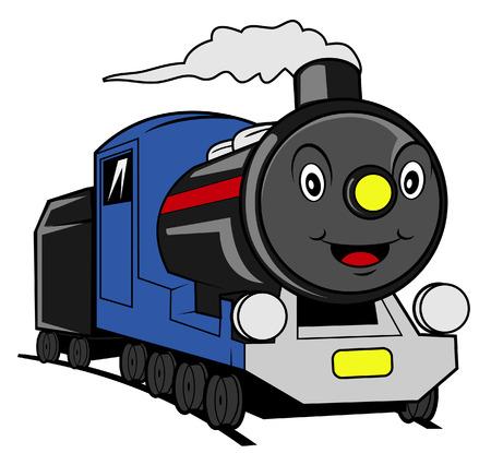 steam locomotive: Train cartoon Illustration