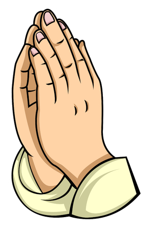 prayer hands: hand prayer Illustration