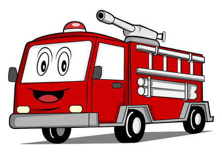 camion pompier: Rescue camion de voiture