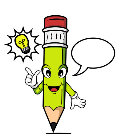 pencil idea cartoon Vector