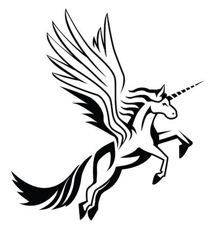 manes: unicorn Illustration