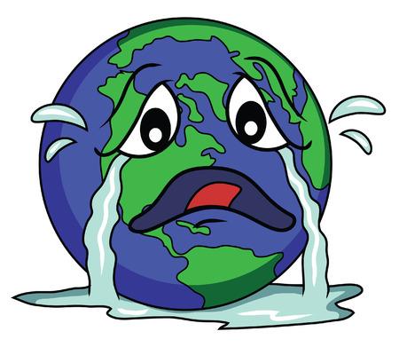 globe sad Vector