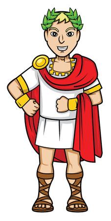 romans emperador Ilustración de vector