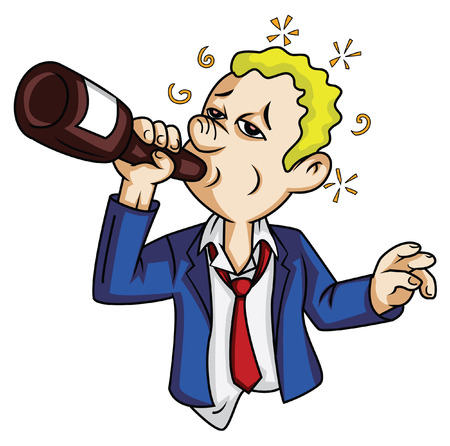 alcoholist: dronken man