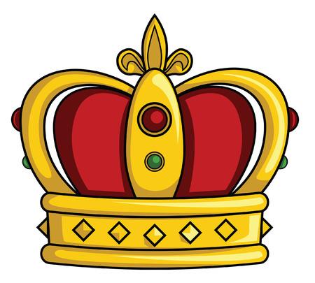 yellow crown: crown Illustration
