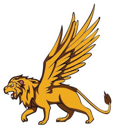 sculptures: lion wings