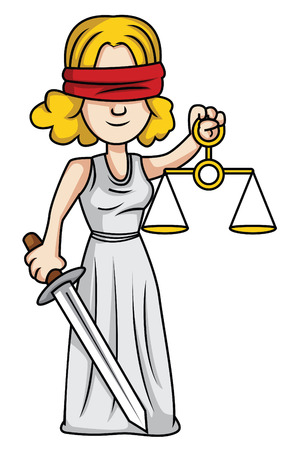 blind woman: justice lady Illustration