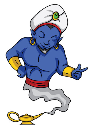 mythological character: genie