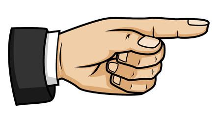 wijzende hand Stock Illustratie