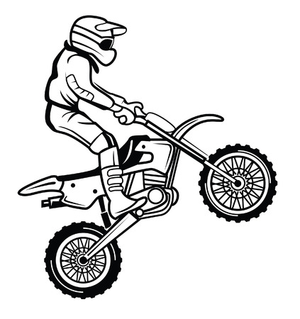 moto cross Vector
