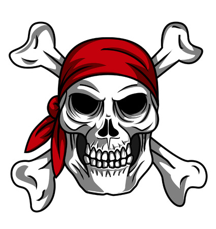 Calavera pirata Foto de archivo - 24115980