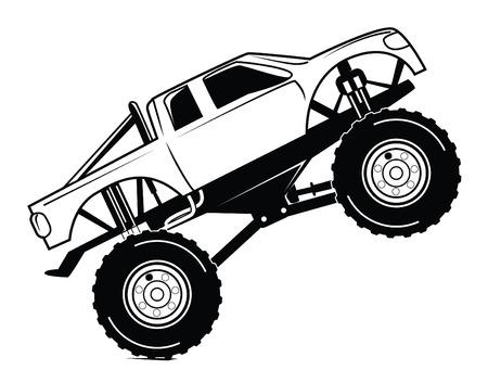 bigfoot: bigfoot car Illustration