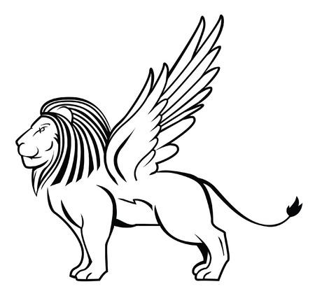 winged lion: ala le�n