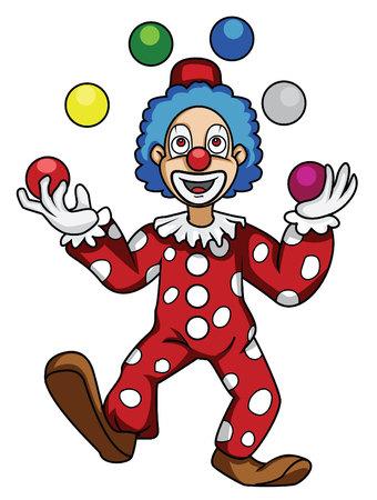 clown face: clown