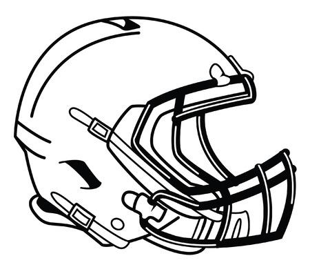フットボール ヘルメット  イラスト・ベクター素材