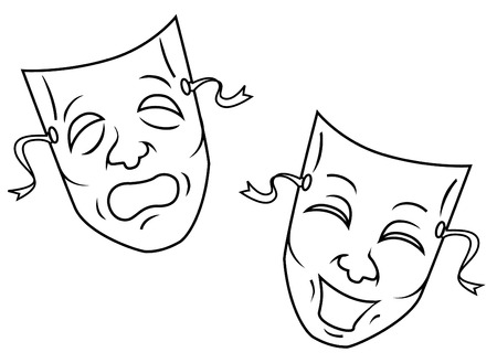 comedy and tragedy masks: mask