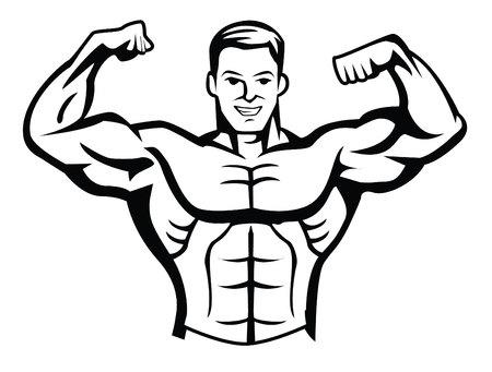 muscular body: body builder