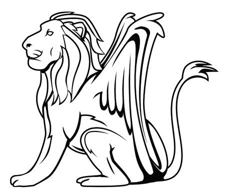 leon con alas: alas león