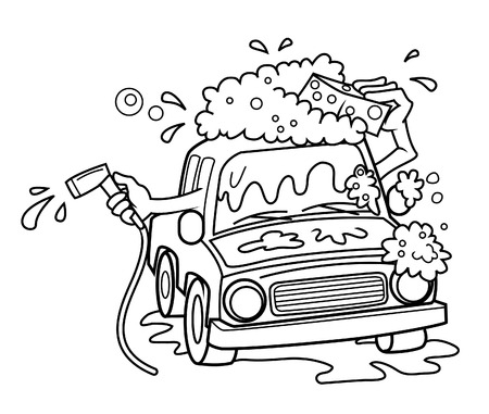 9 395 Car Wash Stock Vector Illustration And Royalty Free Car Wash