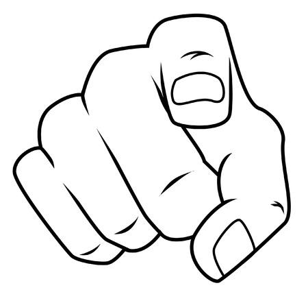 disegno a mano: dito puntato Vettoriali