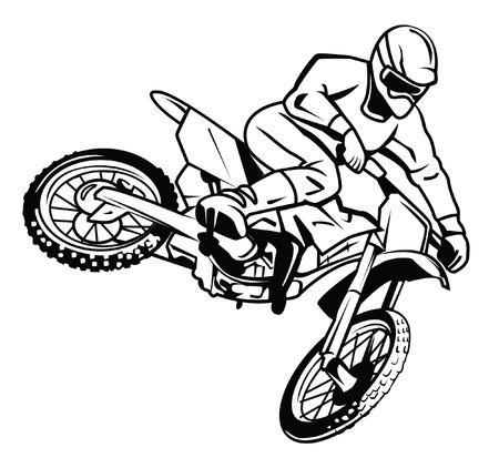 Jinete motocross Foto de archivo - 23982219