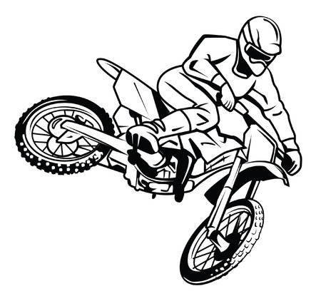 motor cross rider Vector