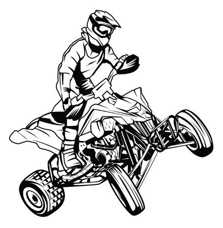 atv: ATV moto rider