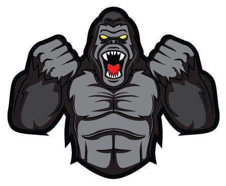 gorilla angry  イラスト・ベクター素材
